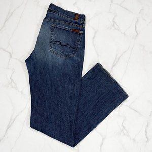7 For All Mankind Bootcut Distressed Jeans